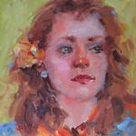 Gaye Sekula, Rose, oil, 6 x 6.