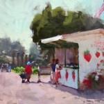 Randall Sexton, Sweetest Strawberries, oil, 12 x 16.