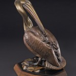 Kim Shaklee, Alcatraz, bronze, 14 x 10 x 12.
