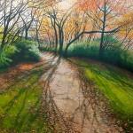 David Bottini, Shimmering November Morning, acrylic, 40 x 40.