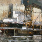 Jerry Markham, Ship Shape, oil, 12 x 16.