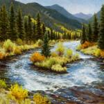 Sallie K. Smith, Autumn Allegro, oil, 30 x 36.