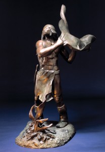 Allan Houser, Smoke Signal, bronze, 57 x 23 x 31, National Cowboy & Western Heritage Museum.