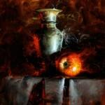 David Cheifetz, Smolder, oil painting