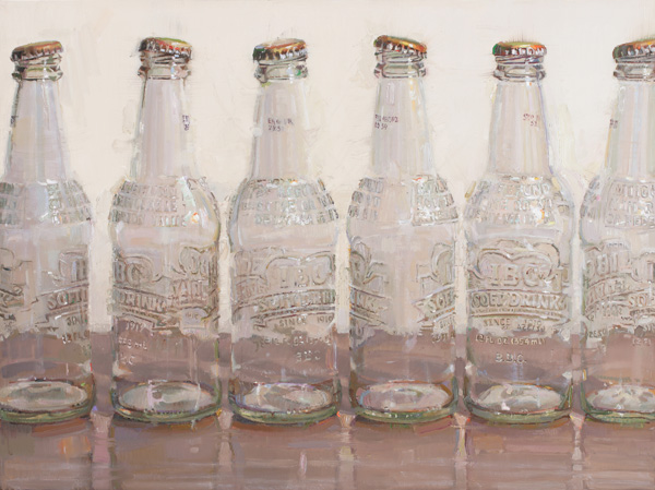 Dianne Massey-Dunbar, Soda Bottles, oil, 18 x 24.