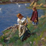 Mike Malm, Soft Spring Breeze, oil, 26 x 30.