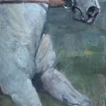 Jill Soukup, Curtailed, oil, 47 x 20.