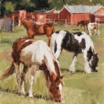 Lindsey Bittner Graham, South Pasture, oil, 12 x 9.