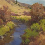 Ken Spencer, Late Autumn Stream, oil, 18 x 24.