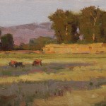 Ken Spencer, Long Shadows, oil, 6 x 11.