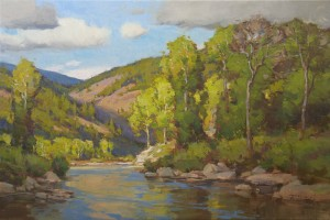 Ken Spencer, Mid-Summer on the River, 24 x 36.
