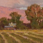 Ken Spencer, New Hay, oil, 6 x 11.