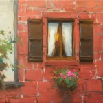 Ken Spencer, Red Stone Window, 16 x 20.