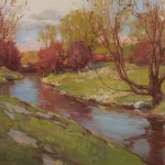 Ken Spencer, Spring Creek, oil, 30 x 40.