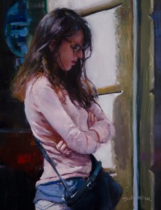 Stan Moeller, Paris in Pink, oil, 18 x 14.