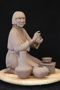 Star Liana York, The Art Spirit, clay model for bronze sculpture.