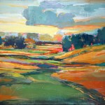 Mark Gould, Study of the Rock River Valley 1911, acrylic, 16 x 20.