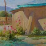 J. Chris Morel | Summer Adobe, oil, 14 x 16.