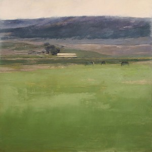 Summer Grasses, oil on panel, 33 x 33.