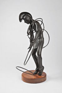 Michael Naranjo, Summer Hawk, bronze, 25 x 14 x 17.