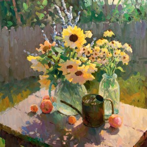 Gregory Packard, Summer Warmth, oil, 36 x 36.
