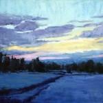 Susiehyer, Winter's Solitude, oil, 20 x 24.