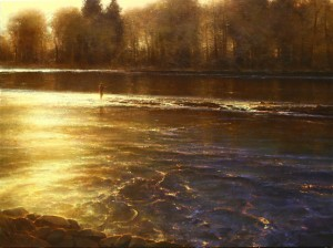 Brent Cotton, Symphony of the River, oil, 36 x 48.