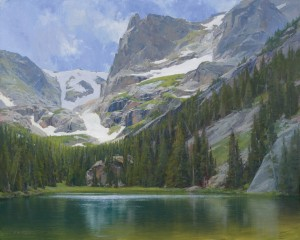 John Taft, Odessa Lake, oil, 48 x 60.