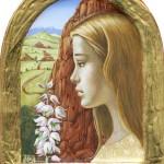 Olga & Aleksey Ivanov, Terra, egg tempera/gold leaf, 7 x 9