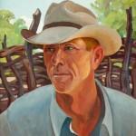 Olin Travis, Cowboy, oil, 20 x 16.