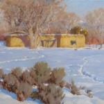 J. Chris Morel | Talpa Adobe, oil, 24 x 30.