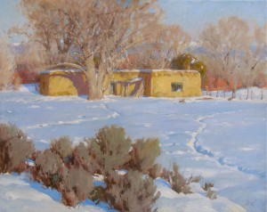 J. Chris Morel | Talpa Adobe, oil, 24 x 30.