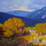 J. Chris Morel | Taos Blues, oil, 20 x 24.