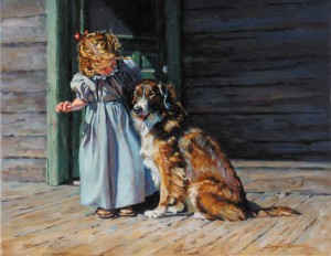 Sonya Terpening, A Good Listener, oil, 16 x 20.