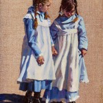 Sonya Terpening, Best Friends, oil, 16 x 12.