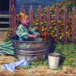 Sonya Terpening, Little Mommie, oil, 24 x 30.