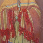 John Farnsworth, The Apache, pastel, 37 x 19.