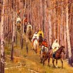 John Moyers, The Forbidden Trail, oil, 48 x 60.