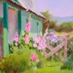 J. Chris Morel | The Green House, oil, 14 x 11.