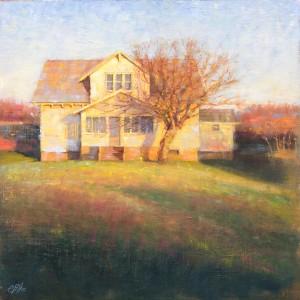 Elizabeth Pollie, The Home Front, oil, 20 x 20.