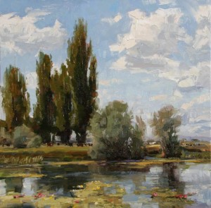 Robert Moore | The Pond, oil, 24 x 24.