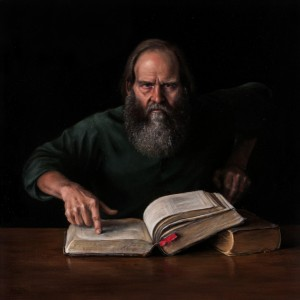 Michael DeVore, The Prophet, oil, 34 x 34.