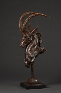 Tim Shinabarger, The Swordsman, bronze, 27 x 12 x 10.