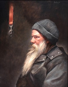 Coulter Prehm, The Leash, oil, 20 x 16.