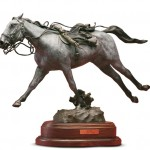 D. Michael Thomas, War Horse, bronze sculpture
