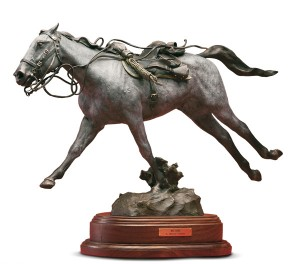 D. Michael Thomas, War Horse, bronze, 15 x 20 x 8.