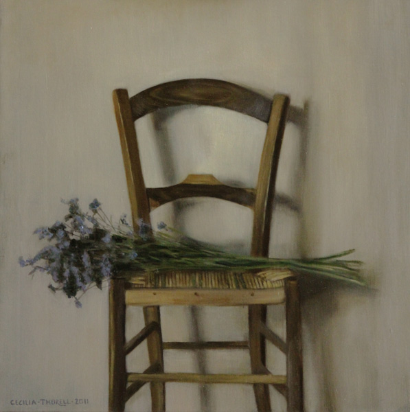 Cecilia Thorell, Tuscan Chair, oil still-life painting