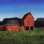Kathy Beekman, Three Doors, pastel, 10 x 18.