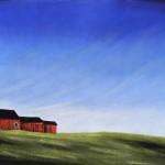 Kathy Beekman, Three in a Row, pastel, 22 x 30.