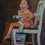 Scott Prior, Timeout Chair, oil, 36 x 24.
